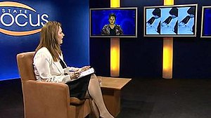 TNQ - Judi Hogan hosting State Focus, a current affairs program broadcast in Queensland by TNQ.