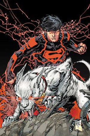 Superboy (Kon-El) - The New 52 Superboy with Krypto. Art by Ken Lashley.
