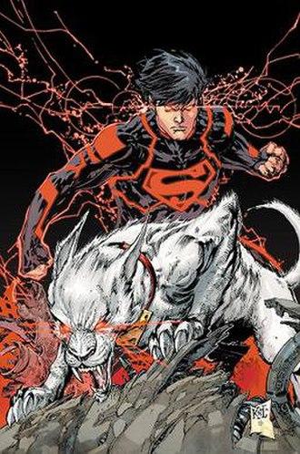 Superboy (Kon-El) - The New 52 Superboy with Krypto. Art by Ken Lashley.
