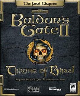 <i>Baldurs Gate II: Throne of Bhaal</i> expansion pack