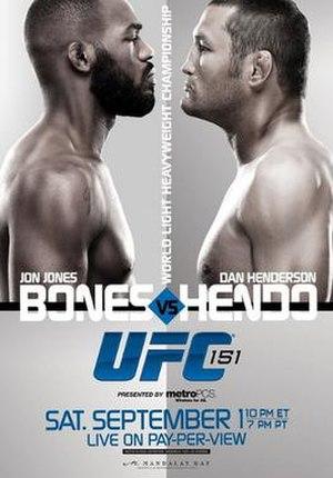 UFC 151 - Image: UFC 151 poster
