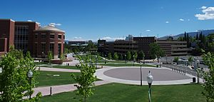 University of Nevada, Reno - View of the Campus in front of UNR Knowledge Center