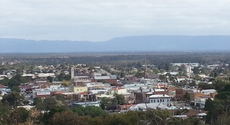 Stawell, Victoria - View south over Stawell toward the Grampians National Park from Big Hill lookout
