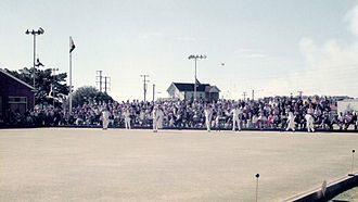 Waratah, New South Wales - Singles Championships at Waratah Bowling Club (now closed) in 1974, sponsored by Gilbeys Gin  and in which English world champion David Bryant competed