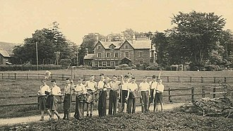 Bembridge School - Bembridge boys by Brantwood, Ruskin's house and wartime home of the school