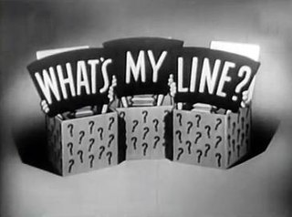 <i>Whats My Line?</i> panel game show