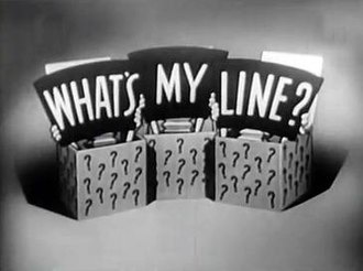 What's My Line? - Image: What's My Line? logo screenshot