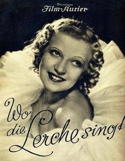 <i>Where the Lark Sings</i> (film) 1936 film by Karel Lamač
