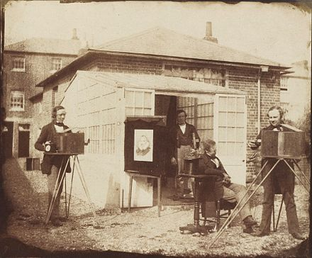 The photographic workshop in Reading, 1846 William Fox Talbot 1853.jpg