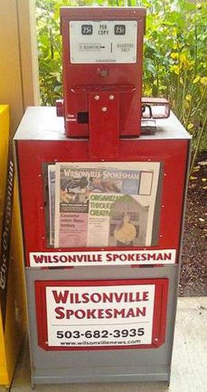Wilsonville Spokesman - Image: Wilsonville Spokesman newsbox
