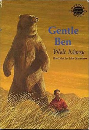 Gentle Ben - Dust jacket of the original 1965 E.P. Dutton edition of Gentle Ben by Walt Morey