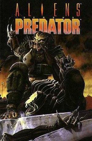 Aliens Versus Predator (comics) - Cover of the trade paperback of the original Aliens versus Predator comic series.