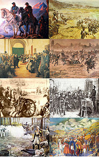 1810-1825 armed conflict in South America