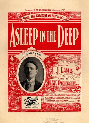 Asleep in the Deep (song) - Cover, sheet music, 1897