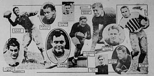 1930 College Football All-Southern Team - Pictures of the composite eleven.