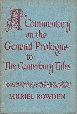 A Commentary on the General Prologue to The Canterbury Tales - First edition
