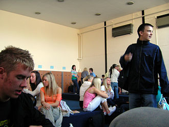 Common room - A Sixth form common room.
