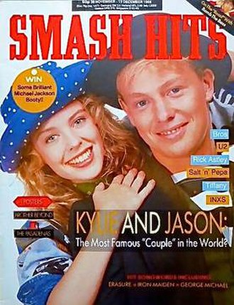 Smash Hits - Cover of a 1988 edition of Smash Hits featuring Kylie Minogue and Jason Donovan as cover.