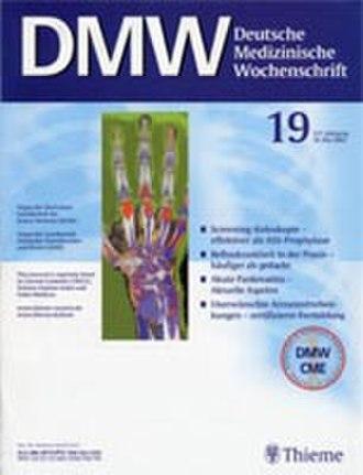 Deutsche Medizinische Wochenschrift - January 2006 cover of the journal