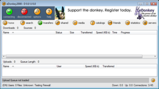 eDonkey2000 peer-to-peer file sharing application