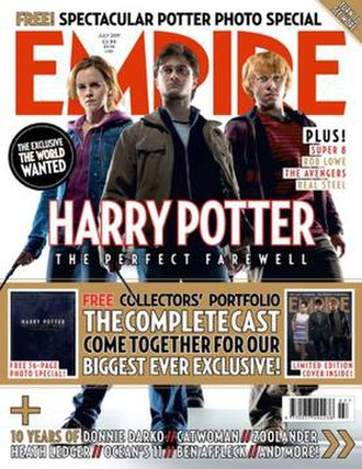 Empire (film magazine) - Cover of the July 2011 issue, featuring Emma Watson, Daniel Radcliffe, and Rupert Grint