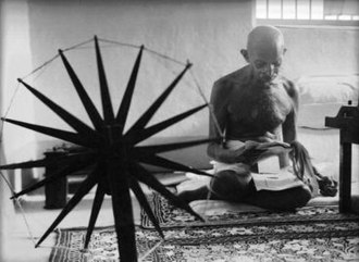 Margaret Bourke-White - An iconic photograph that Margaret Bourke-White took of Mohandas K. Gandhi in 1946