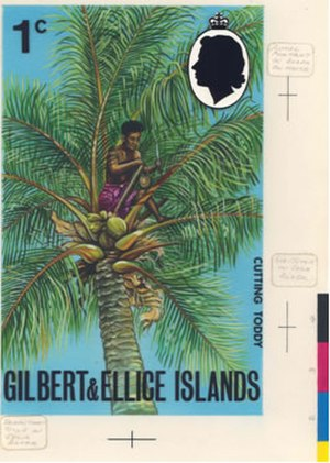 Crown Agents Philatelic and Security Printing Archive - Image: Gillbert and Ellice Islands 1971