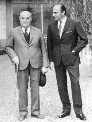 """Nuccio Bertone - Giovanni Bertone (left) with his son Giuseppe """"Nuccio"""" Bertone (right)"""