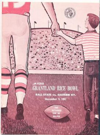 1967 Grantland Rice Bowl - Program cover for 1967 game