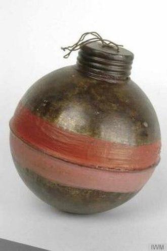 West Spring Gun - Image: Grenade for West Spring Gun IWM MUN 1497