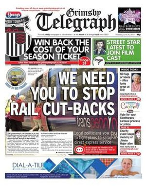Grimsby Telegraph - Grimsby Telegraph Front Page
