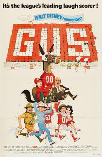 Gus (1976 film) - Theatrical release poster