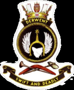 HMAS Derwent (DE 49) - Image: HMAS derwent crest