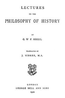 <i>Lectures on the Philosophy of History</i> book