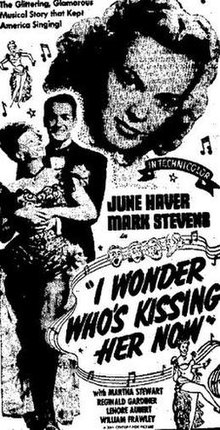 I Wonder Who's Kissing Her Now poster.jpg