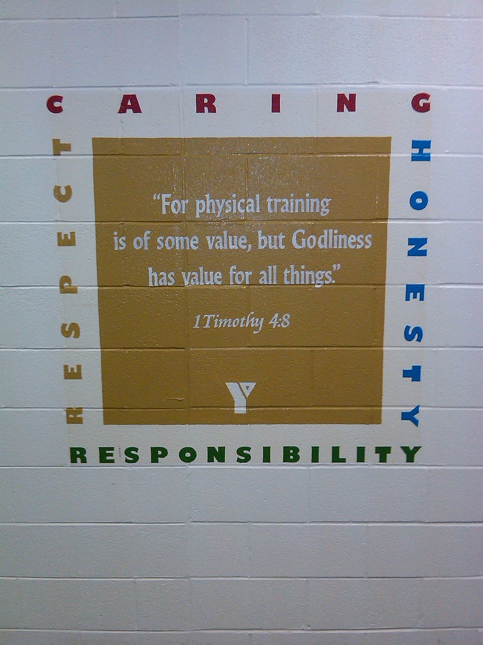 Inspirational Message in the Fitness Center of the YMCA in New Philadelphia, OH