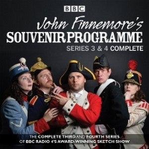 John Finnemore's Souvenir Programme - CD cover showing the cast, l-r: Carrie Quinlan, Simon Kane, John Finnemore, Lawry Lewin, Margaret Cabourn-Smith