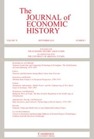 The Journal of Economic History - Image: Journal of Economic History