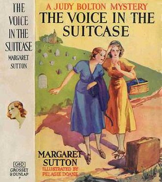 Judy Bolton Series - Cover of Judy Bolton book, illustrated by Pelagie Doane