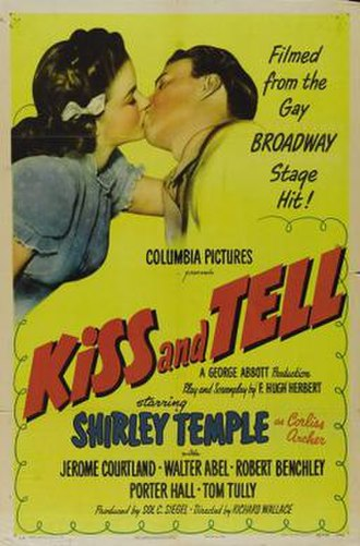 Kiss and Tell (1945 film) - Theatrical release poster