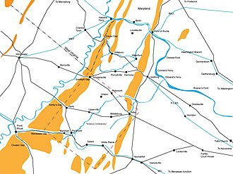 Loudoun County in the American Civil War - Loudoun County area during the Civil War