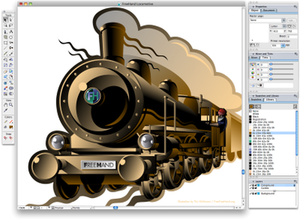Adobe FreeHand - Image: Macromedia Freehand screenshot