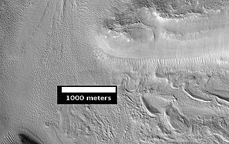 Ismenius Lacus quadrangle - Image: Mamers Valles Smooth Cliff
