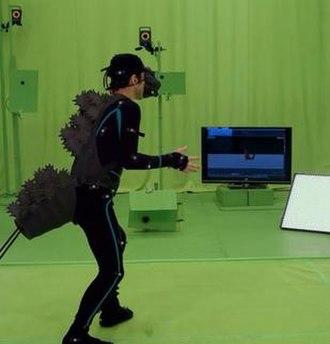 Shin Godzilla - Mansai Nomura portraying Godzilla through motion capture.