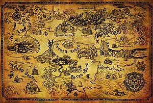 image regarding Printable Legend of Zelda Map called Universe of The Legend of Zelda - Wikipedia