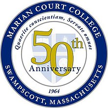 Marian Court College 50th logo.jpg