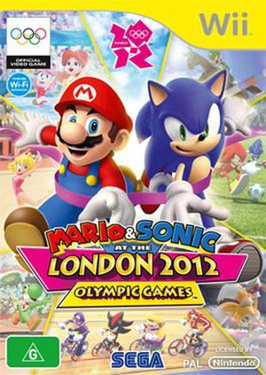Mario & Sonic at the London 2012 Olympic Games - Australian Wii box art
