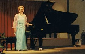 Moura Lympany - Moura Lympany at the Rasiguères Festival of Music and Wine, c. 1990