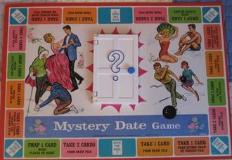 Mystery Date (game) - Mystery Date game board, 1965