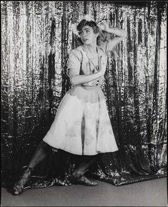 Nelson Barclift - Nelson Barclift photographed by Carl Van Vechten, in a drag role in This Is the Army, 1942.